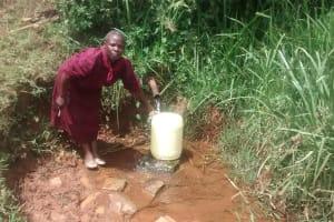 The Water Project: Isese Community, Sylvanus Spring -  Mrs Lubanga