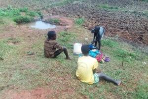 The Water Project: Simuli Community, Lihala Sifoto Spring -  Laundry
