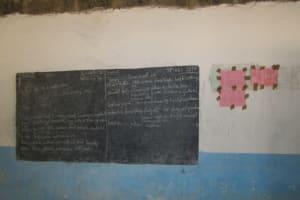 The Water Project: Gbaneh Bana SLMB Primary School -  Blackboard