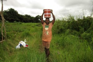 The Water Project: Baya Community -  Carrying Water