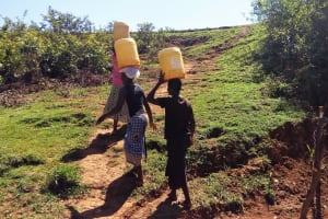 The Water Project: Shitaho Community B, Isaac Spring -  Carrying Water
