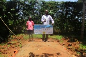 The Water Project: Mutambi Community, Kivumbi Spring -  Sanitation Platform