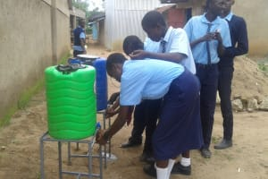 The Water Project: Ikonyero Secondary School -  Hand Washing