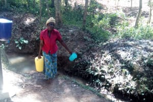The Water Project: Elunyu Community, Saina Spring -  Carrying Water
