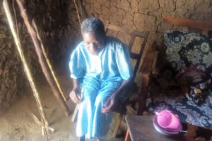 The Water Project: Lutonyi Community, Shihachi Spring -  Widow Living By The Spring