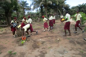 The Water Project: Ernest Bai Koroma Secondary School -  Students Playing Outside