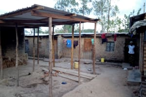The Water Project: Mwiyala Community, Benard Spring -  Rental Houses Next To The Spring