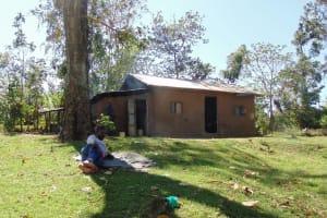 The Water Project: Shikhambi Community, Daniel Inganga Spring -  Homestead