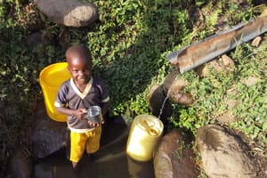 The Water Project: Shitoto Community, William Manga Spring -  Waiting For Container To Fill