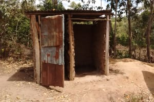 The Water Project: Irenji Community, Shianda Spring -  Latrines