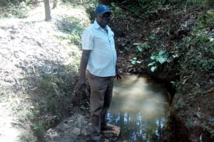 The Water Project: Elunyu Community, Saina Spring -  Mr Erastus