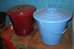 The Water Project: Kasongha Community, 16 Komrabai Road -  Drinking Water Storage