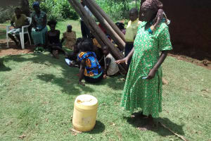 The Water Project: Shikhuyu Community -  Woman Explains How They Handle Water