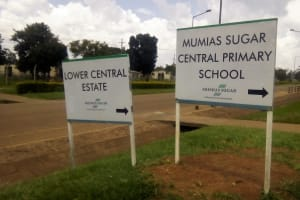 The Water Project: Mumias Central Primary School -  School Signs