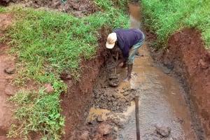 The Water Project: Visiru Community, Kitinga Spring -  Spring Excavation