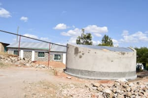The Water Project: Muthei Secondary School -  Tank Curing