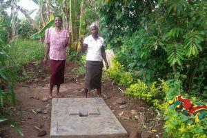 The Water Project: Eshiakhulo Community, Omar Sakwa Spring -  Sanitation Platform