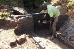 The Water Project: Elukho Community -  Construction