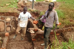 The Water Project: Mahanga Community -  Construction