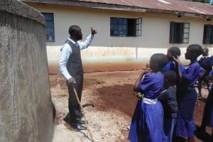 The Water Project: Ebusiloli Primary School -  Tank Maintenance