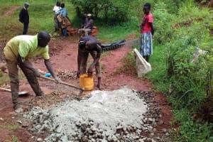 The Water Project: Visiru Community, Kitinga Spring -  Foundation Work