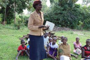 The Water Project: Mahanga Community -  Wewasafo Staff Jacqueline Shigali Facilitates At The Training