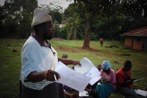The Water Project: Mahanga Community -  Joseph Agofya Sharing At The Training