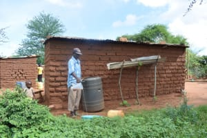 The Water Project: Ikulya Community -  Household Rainwater