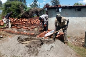 The Water Project: Kapchemoywo Girls Secondary School -  Latrine Construction