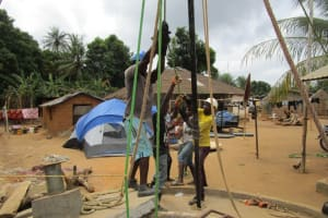 The Water Project: Petifu Junction Community -  Drilling