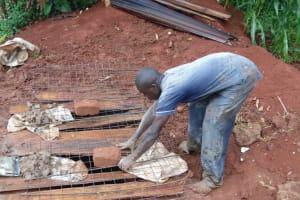 The Water Project: Mahanga Community -  Sanitation Platform Construction