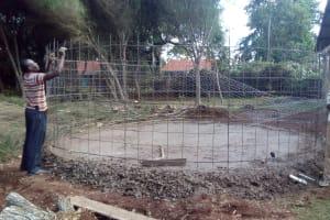 The Water Project: Kapchemoywo Girls Secondary School -  Tank Construction