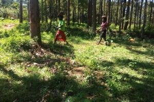 The Water Project: Murumba Community, Muyokani Spring -  Collecting Materials