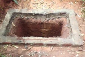The Water Project: Visiru Community, Kitinga Spring -  Latrine Pit