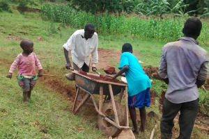 The Water Project: Mahanga Community -  Collecting Materials