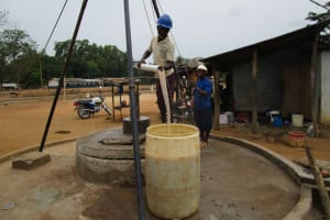 The Water Project: Petifu Junction Community -  Flushing