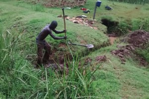 The Water Project: Mahanga Community -  Digging Trenches
