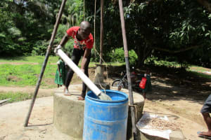 The Water Project: Rogbere Community -  Flushing