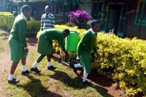 The Water Project: Kapchemoywo Girls Secondary School -  Hand Washing Stations