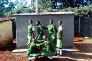 The Water Project: Kapchemoywo Girls Secondary School -  Finished Latrines