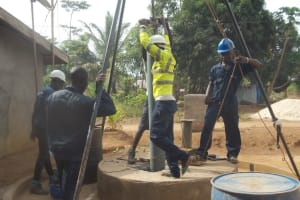 The Water Project: Malokoh Community, #4 Mabesseneh Road -  Drilling
