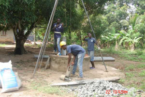 The Water Project: Rogbere Community -  Drilling