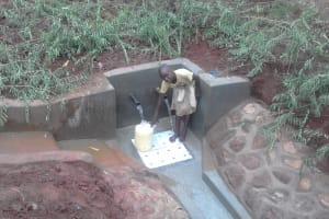 The Water Project: Visiru Community, Kitinga Spring -  Clean Water
