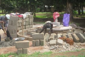 The Water Project: Malokoh Community, #4 Mabesseneh Road -  Well Pad Construction