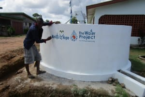 The Water Project: Tholmosor Community -  Painted Wall