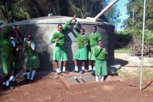 The Water Project: Kapchemoywo Girls Secondary School -  Finished Tank