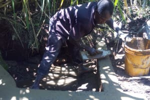 The Water Project: Murumba Community, Muyokani Spring -  Spring Protection Construction