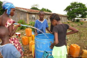 The Water Project: Victory Evangelical Church -  Yield Test