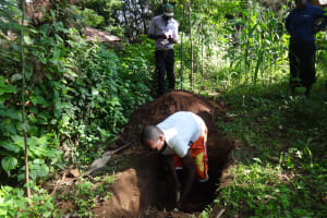 The Water Project: Murumba Community, Muyokani Spring -  Digging A Latrine Pit