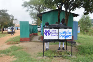 The Water Project: AIC Mutulani Secondary School -  Hand Washing Stations Being Used